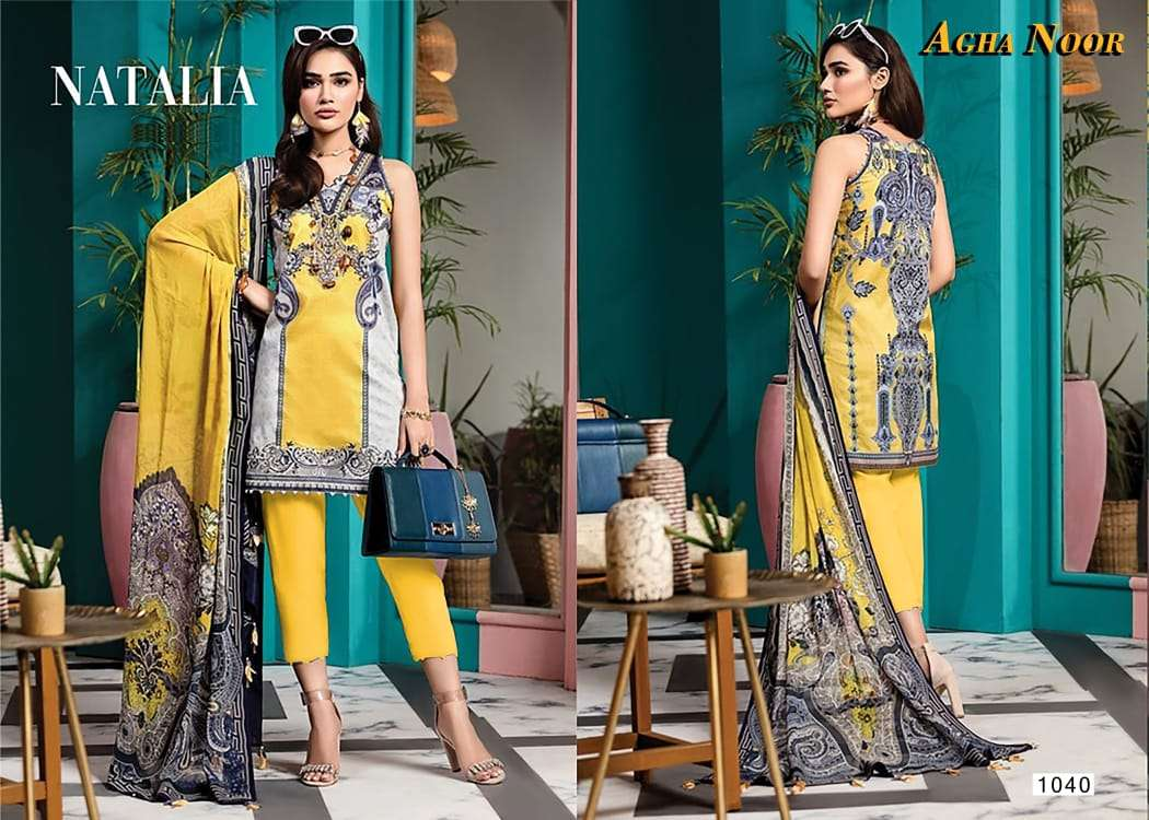 AGHA NOOR VOL 3 LUXUARY LAWN COLLECTION (KARACHI STYLE)