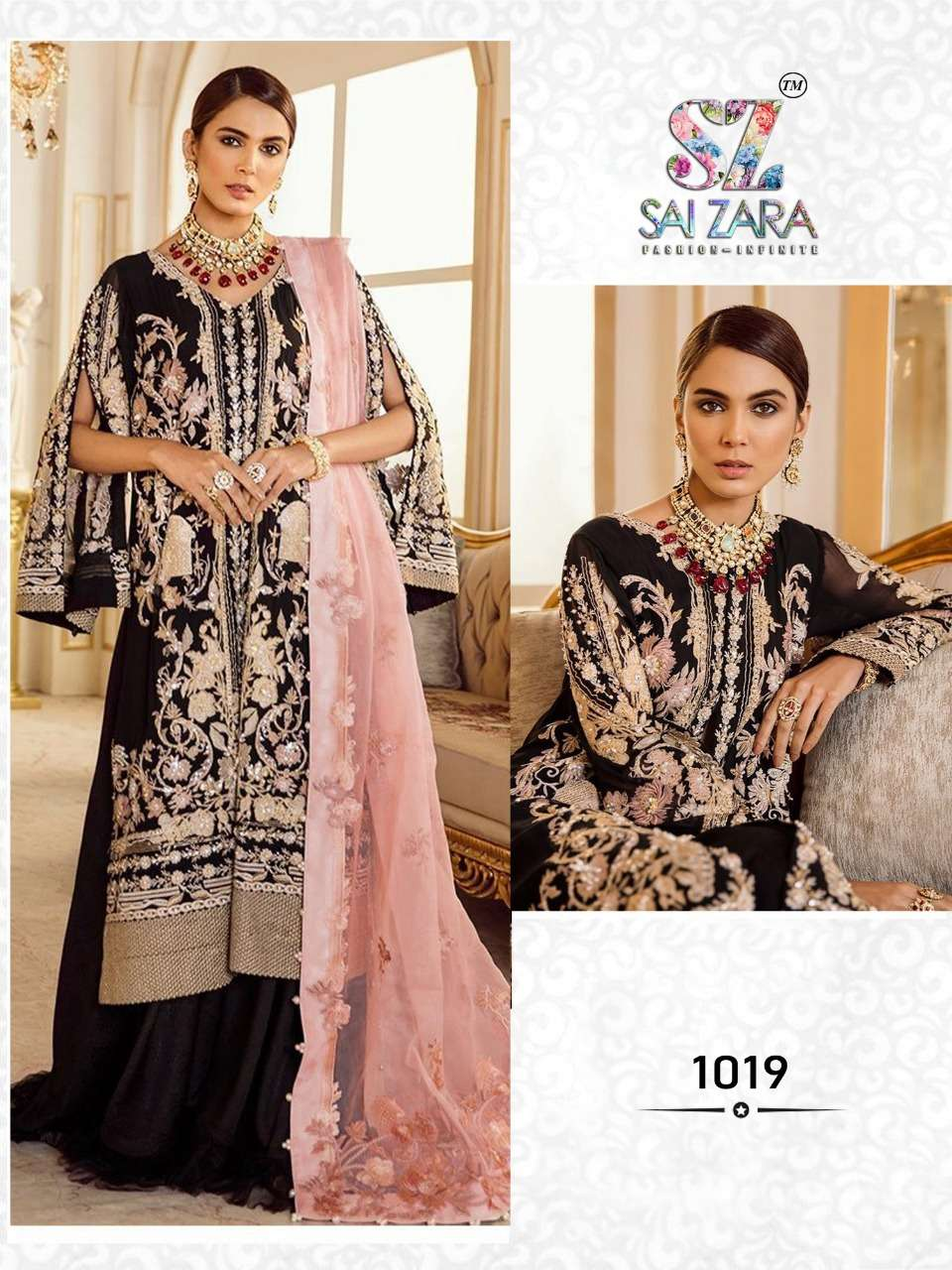 DESIGN NO. 1019 PAKISTANI SUIT BY SAI ZARA