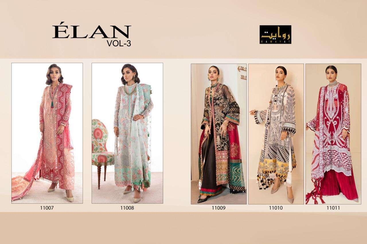 DESIGN NO. 11007 TO 11011 ELAN VOL-3 BY RAWAYAT